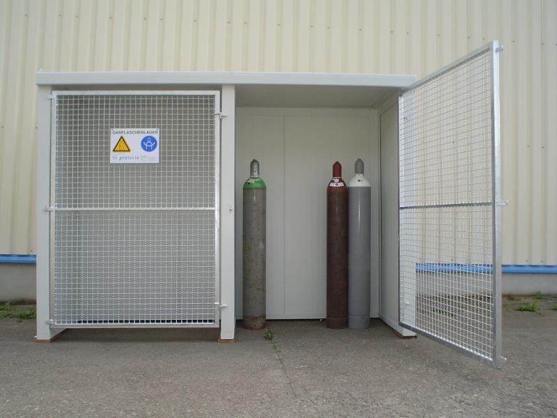 Brandschutz Gasflaschenlager Stahl Typ GFL-P 2.2