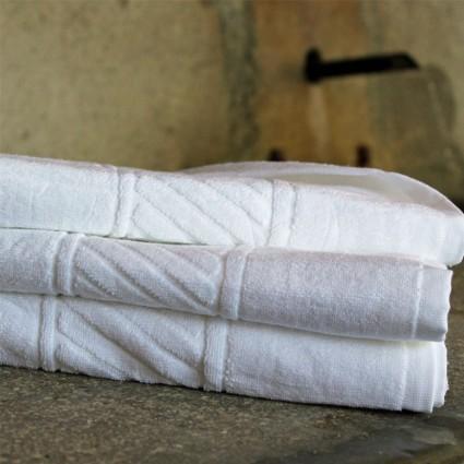 Linge de bain : serviettes et peignoirs - Linge éponge blanc Douro 500g