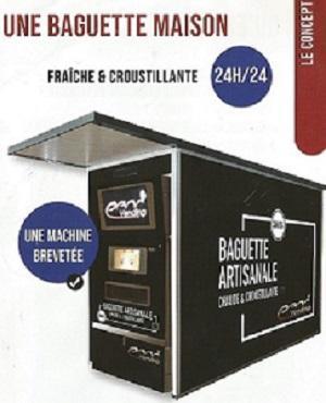Distributeur de Baguette toujours chaude - 24h/24 ; 7j/7