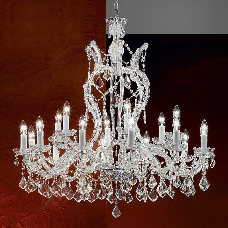 Excellent lustre LILIANA avec pendentifs - Lustres en cristal