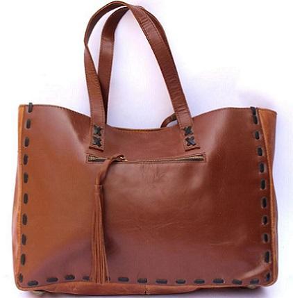 Real Leather Tote Bag/ Ladies Shopper Bag