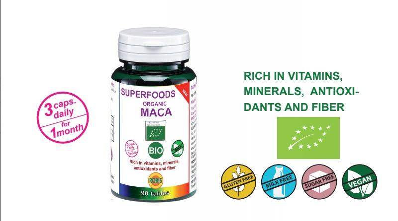 Maca Bio - Rich in proteins, vitamins, minerals, antioxidants and fiber.