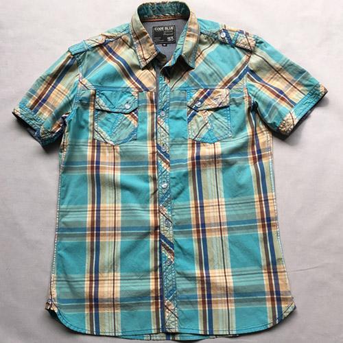 мужская случайная короткий рукав рубашка -