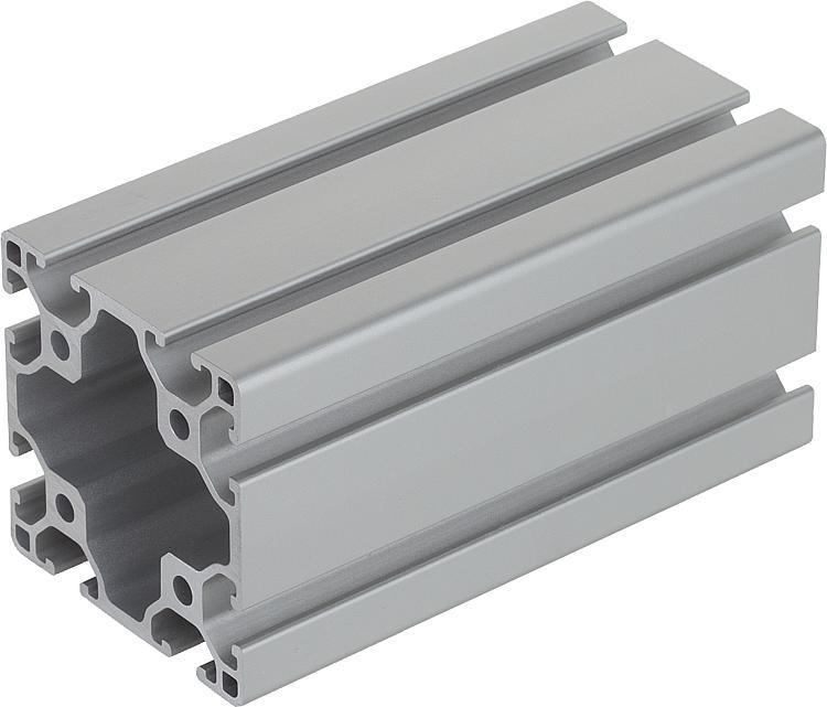 Profilés aluminium 60x60 légers Type I - Profilés aluminium