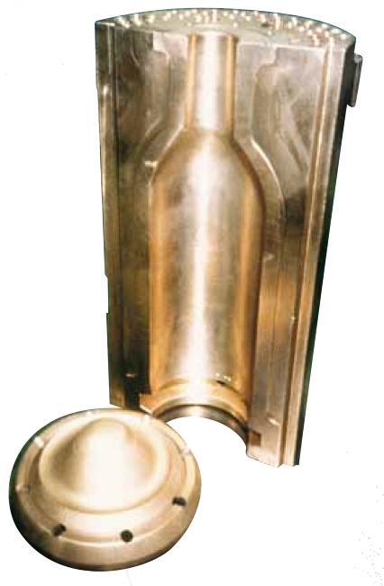 Bottle mould & bottom plate - Glass industry
