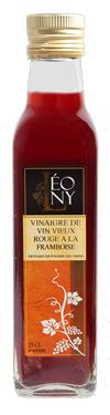 Vinaigre de Vin Rouge Biologique à l'Arôme de Framboise  - Bio 6 % d'acidité LEONY