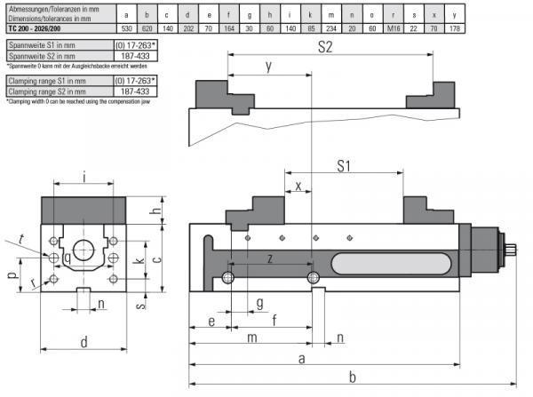 Version TC 200 MECHANISCH - Horizontal & vertikal einsetzbar – somit für vertikale & horizontale Fräscentren