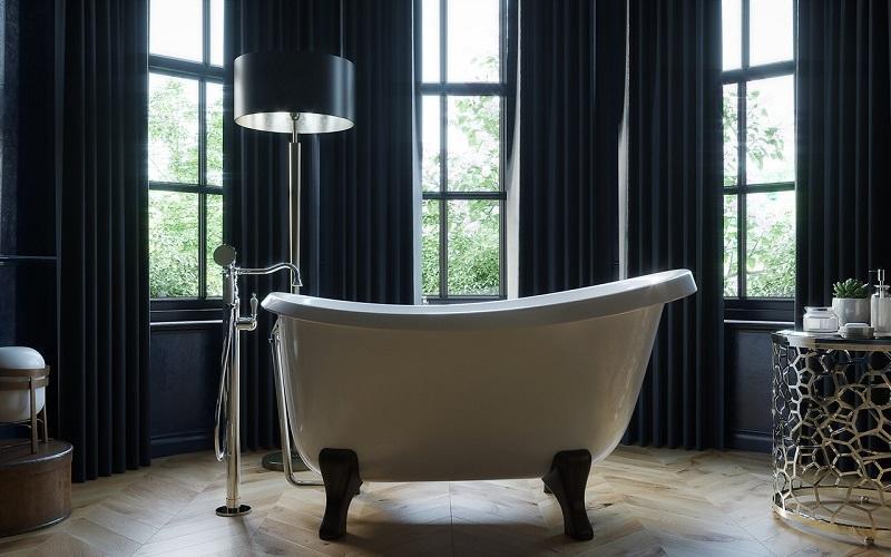 Piccolo Ванна на Ножках - Отдельностоящая, из литого мрамора, размер 150 x 85 x 85 см