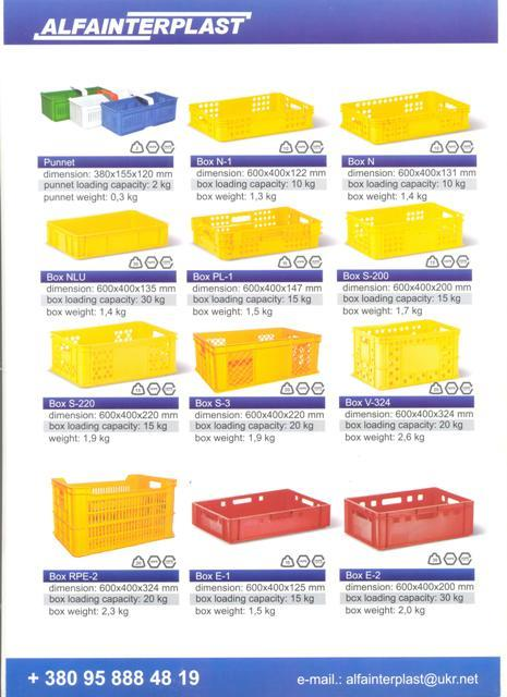 Ящики пластиковые для хлеба - Ящики HDPE пластиковые для хлеба