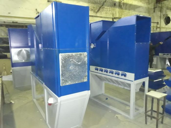 Зерноочистительный сепаратор 15 т/ч - Grain cleaner without sieve, for cleaning and calibration, capacity 15 t / h