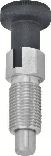 Doigt d'indexage - avec dispositif de blocage, acier ou inox