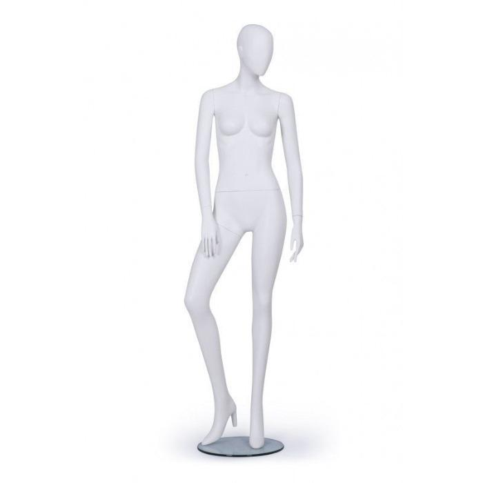 Female display mannequin - Female window mannequin abstract face white color
