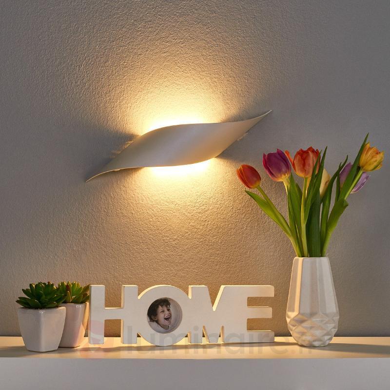 Applique LED Rizz 34,5 cm, couleur alu - Appliques LED