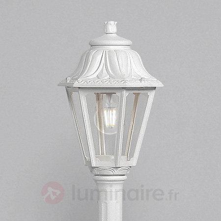 Borne lumineuse LED Mizar Anna E27, blanc - Bornes lumineuses LED
