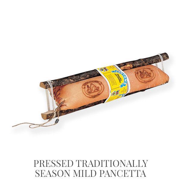 Pressed traditionally season mild Pancetta - pancetta and lard