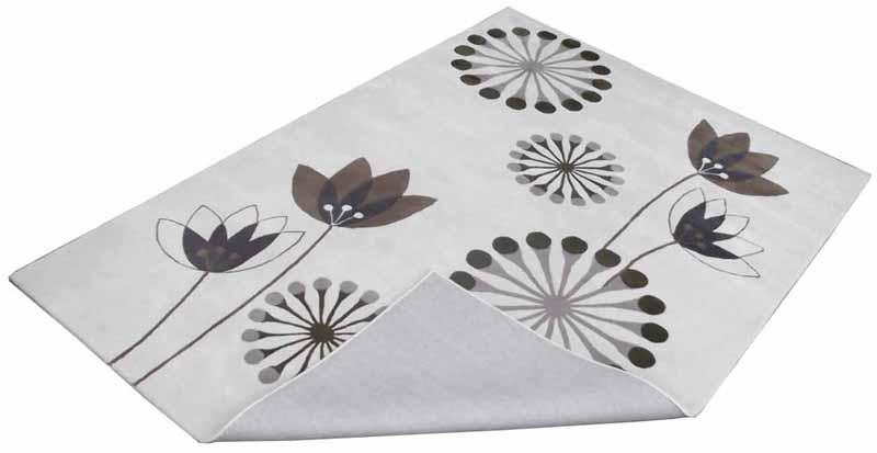 Hand Tufted Rugs; Latexed back with cotton cloth backing - NT-004, Modern design, Cream/ Yellow, Wool Rugs and Carpets