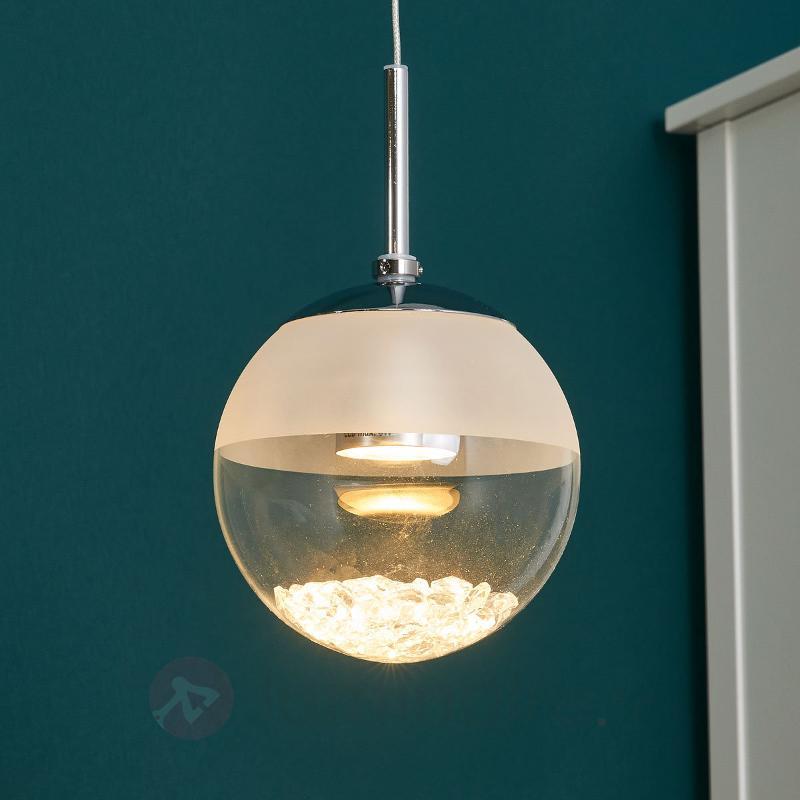 Suspension LED à 1 flamme Montefio avec du cristal - Suspensions LED