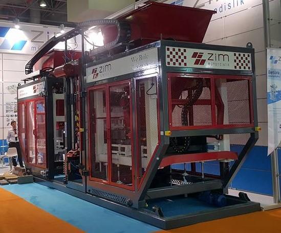 Beton Parke ve Briket Üretim Makinesi - ZIM 1025 PLUS Tam otomatik parke briket tesisi