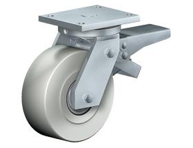 SWIVEL CASTOR WITH TOTAL LOCK - Extra Heavy Duty Castors