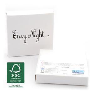 Pochettes personnalisées de préservatifs - 64trio