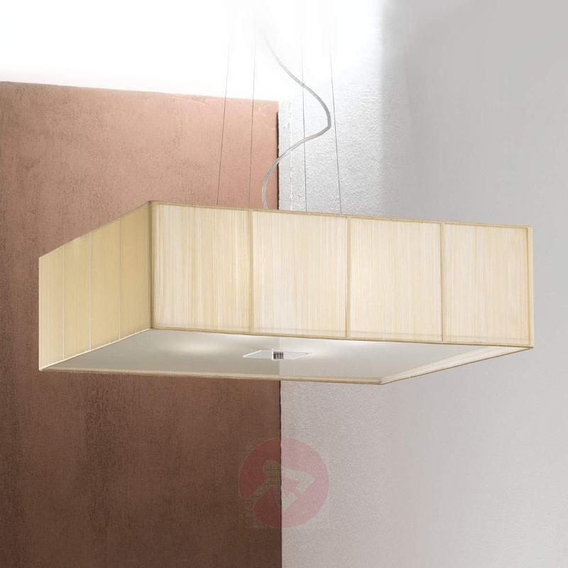 Benjamin Fabric Hanging Light Square - Pendant Lighting