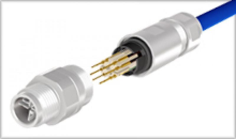 M12x1 Steckverbinder konfektionierbar Crimpanschluss - M12x1 Einbauflansche konfektionierbar
