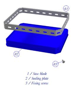 FOIL COVERED FOOD TRAY BLADES - PACKAGING CUTTING BLADES