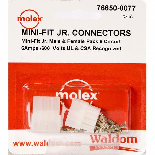 KIT CONN MINI-FIT JR 8 CIRCUITS - Molex Connector Corporation 76650-0077
