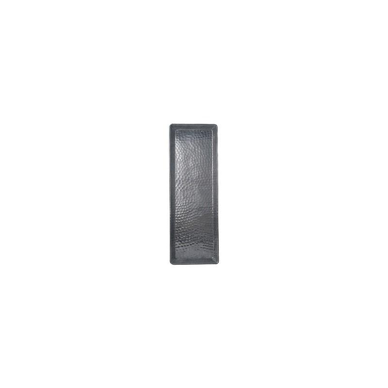 Plateau Aluminium Rectangle 38x13 Cm - FEUILLE MARTELÉE