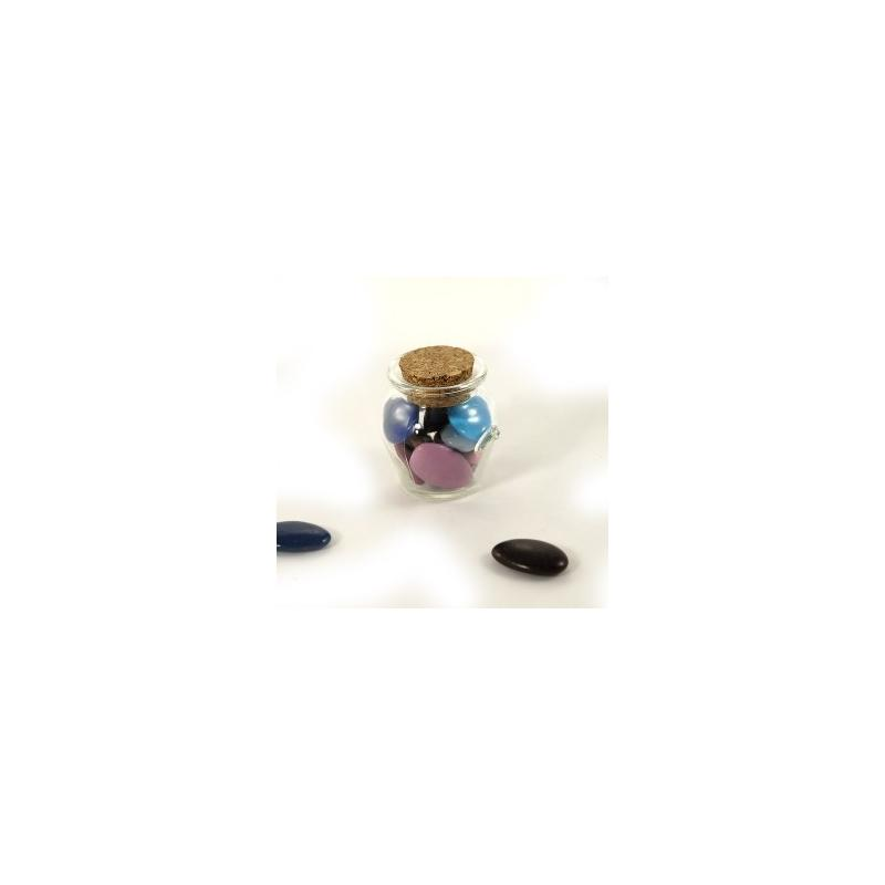 24 Mini bocaux 39 ml Jarres avec bouchon en liège - Mini bocaux