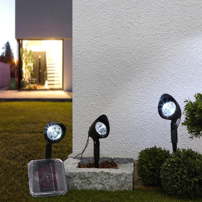 Projecteur solaire Lylia à LED par 3 - Toutes les lampes solaires