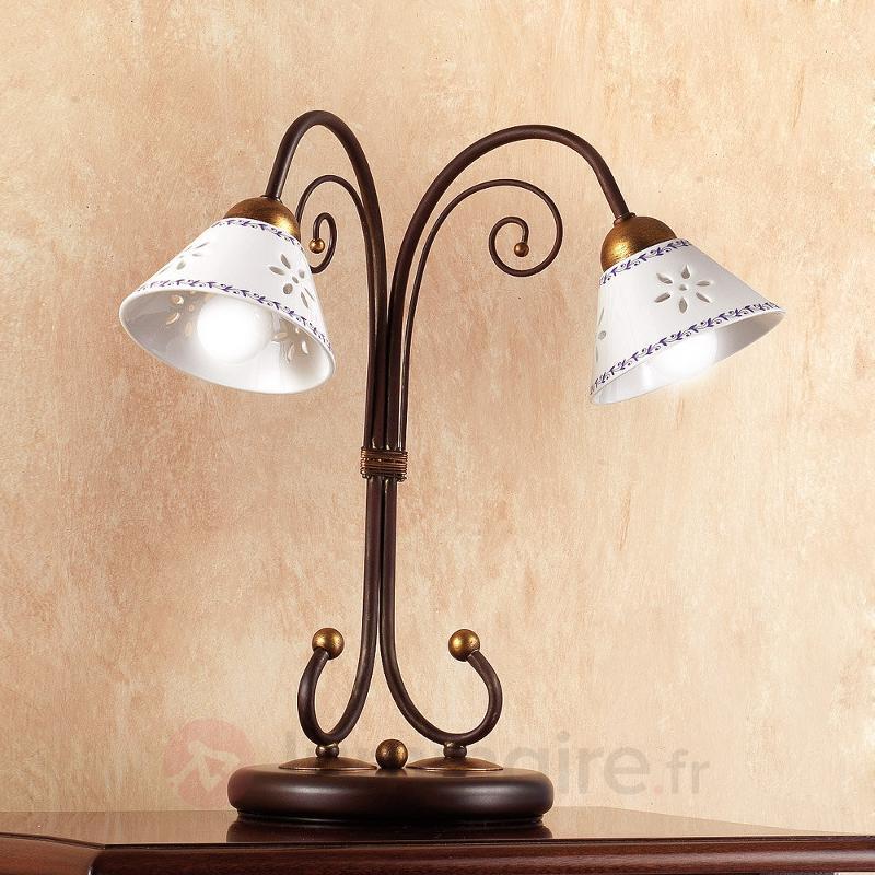 Lampe à poser 2 lampes LIBERTY - Lampes à poser rustiques