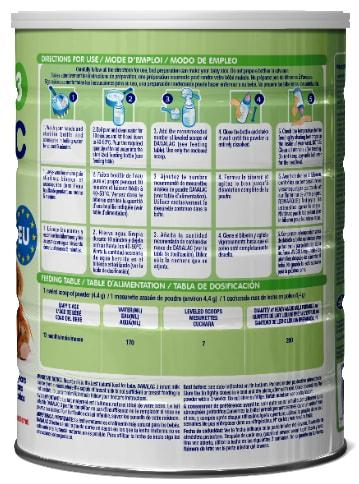 FORMULA INFANTIL DANALAC ETAPA TRES - Fórmula infantil para edades 1+ a 3 años (leche para bebés)