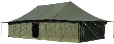 TENTE EN COTON TOILE AVEC 3 BUREAUX D'OFFICIER 12X3M - null