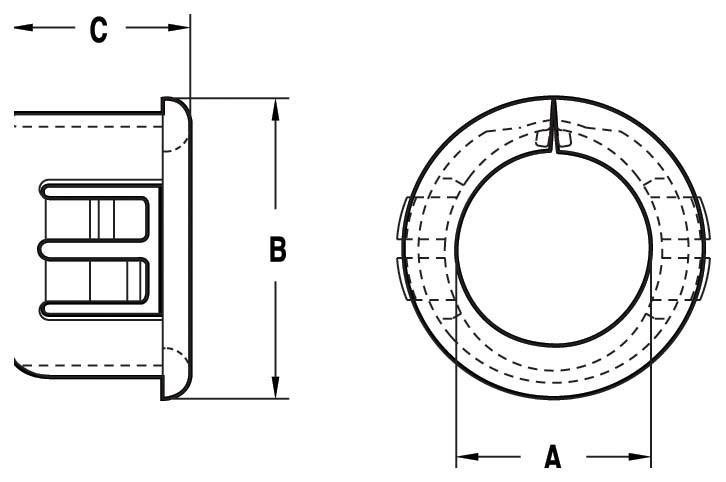 NH403 - Passe-fil fendu - Passe-fils