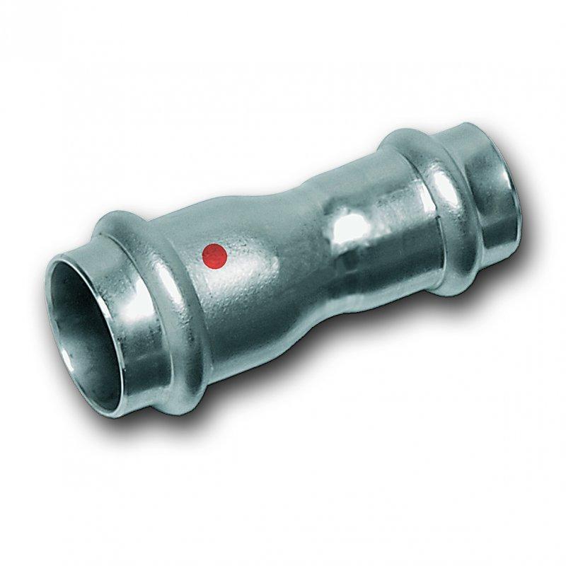 Reduziermuffe, beidseitig mit Pressanschluss - Hochwertige Edelstahl-Pressfittings und Edelstahlrohre 1.4301 (AISI 304), EPDM