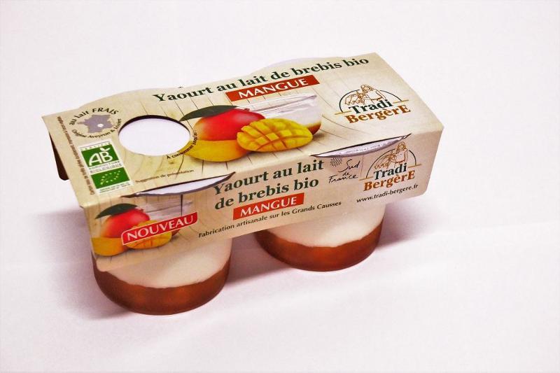 YAOURT AU LAIT DE BREBIS BIO MANGUE. (PACK 2 X 100 G) - Produits laitiers