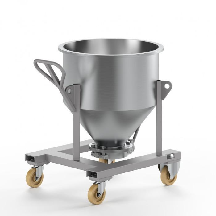 Mixing container for MIXACO container mixers - Suitable mixing containers for use on the flexible MIXACO container mixers.