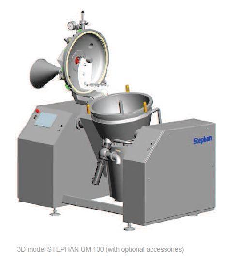 Universelle mélangeur cuiseur cutter vapeur sous vide - STEPHAN UM130