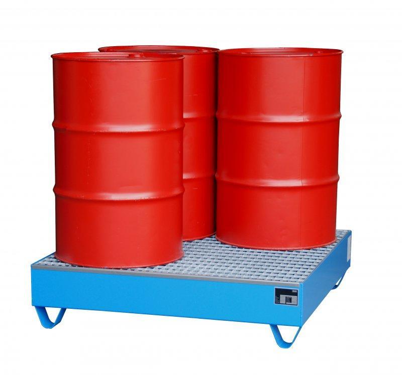 Bac de rétention type ECO 4/200 - Pour un stockage de 4 fûts de 200 litres