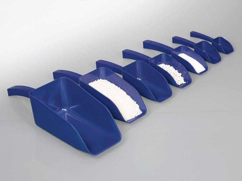 Detectable scoops, blue - Visible to metal detectors or X rays, for food, animal feed & pharma industries