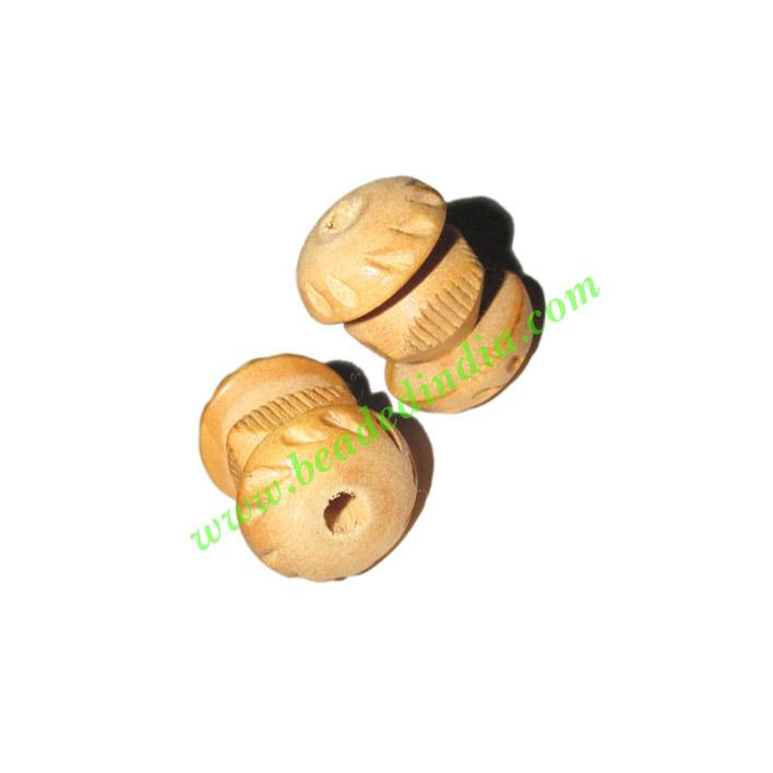 Natural Color Wooden Beads, size 15x21mm, weight approx 1.48 - Natural Color Wooden Beads, size 15x21mm, weight approx 1.48 grams