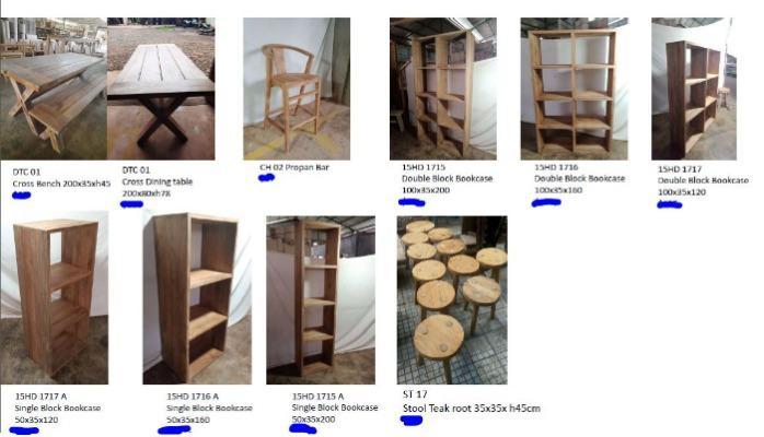 Various Models - Teakwood Furniture