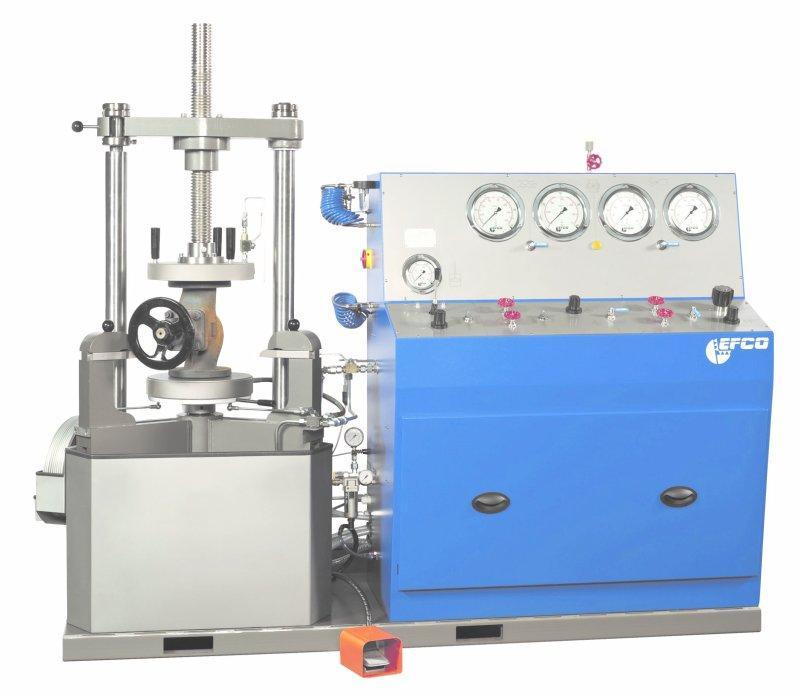 EFCO Modul-Armaturenprüfstand PS-75 M - Modulprüfstand PS-75 M zum Prüfen von Absperrarmaturen und Sicherheitsventilen.