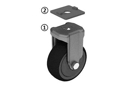Swivel and Fixed Castors - Rollers in different design with housing and plus profile adapter optional