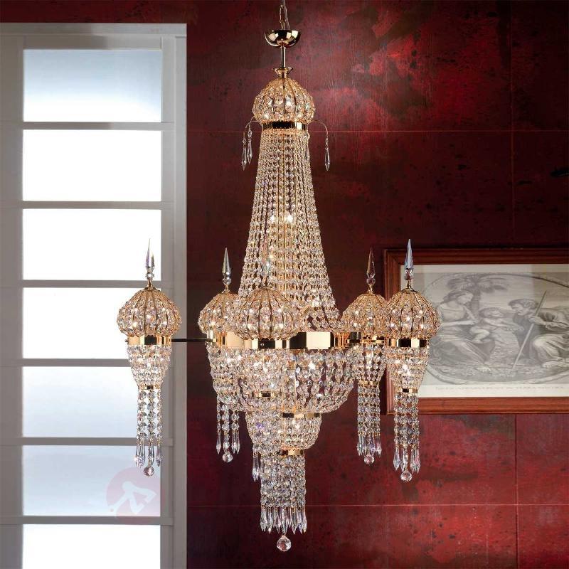 Somptueux lustre MOSKVA doré - Lustres en cristal
