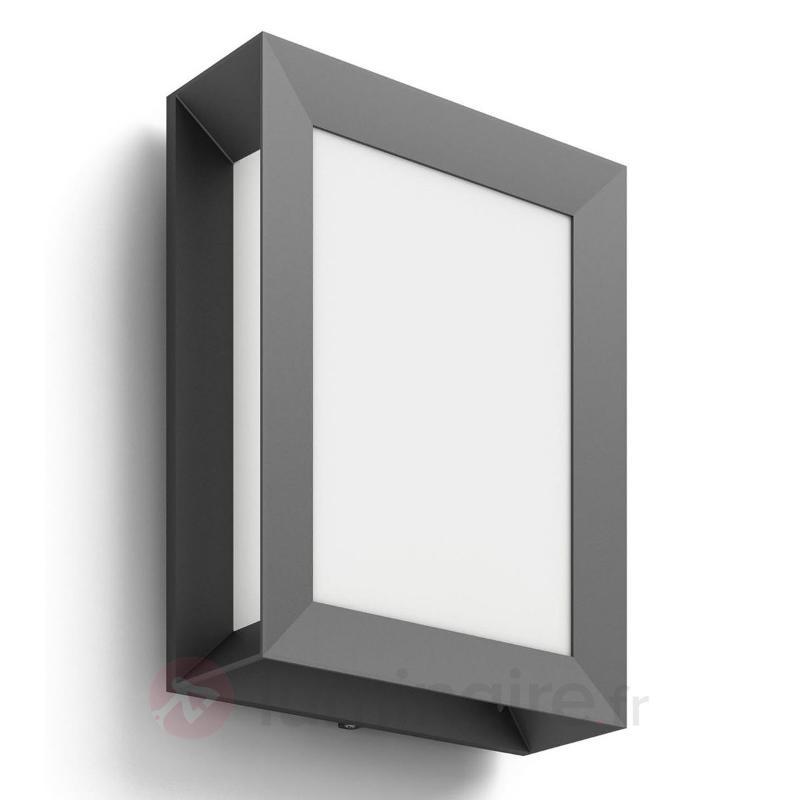 Applique d'extérieur rectangulaire Karp avec LED - Appliques d'extérieur LED
