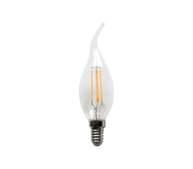 Ampoule flamme à filament LED C35T 4 W - null