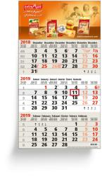 3-Monatsplaner - 3-Monats-Wandkalender Business beige - 6-sprachige Ausgabe