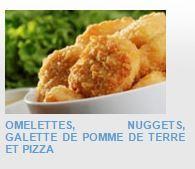 EN-CAS HYPERPROTEINES ET HYPOCALORIQUES A RECONSTITUER - Omelettes, nuggets, galette de pomme de terre et pizza